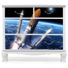 Naklejka na meble - Space Shuttle Solid Rocket Boosters Separation