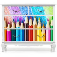 Naklejka na meble - Colored pencils background