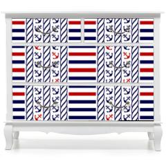 Naklejka na meble - Nautical seamless pattern. Vector illustration.