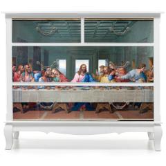 Naklejka na meble - Vienna - Mosaic of Last supper - copy Leonardo da Vinci