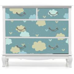 Naklejka na meble - Seamless pattern with clouds