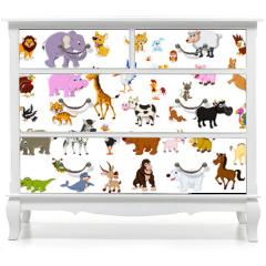 Naklejka na meble - big animal set for you design