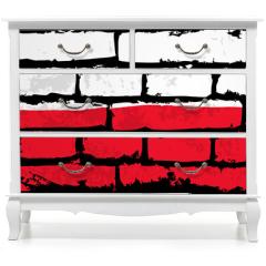 Naklejka na meble - mur flaga polska wektor