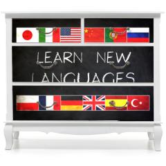 Naklejka na meble - Learn new languages