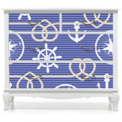 Naklejka na meble - Nautical seamless pattern
