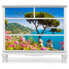 Naklejka na meble - Postcard view of Amalfi Coast, Ravello, Campania, Italy