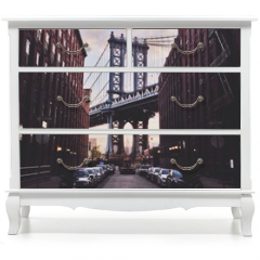 Naklejka na meble - Manhattan bridge