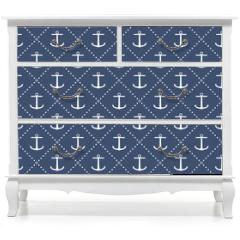 Naklejka na meble - Anchor seamless pattern
