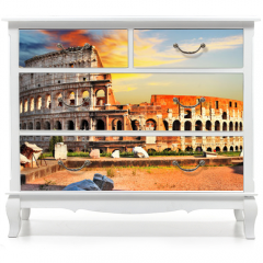Naklejka na meble - great Colosseum on sunset, Rome