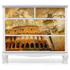 Naklejka na meble - great Roman empire - conceptual collage in retro style