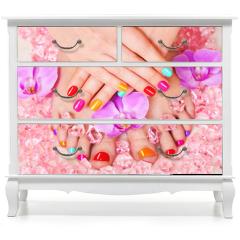 Naklejka na meble - Beautiful manicure and pedicure