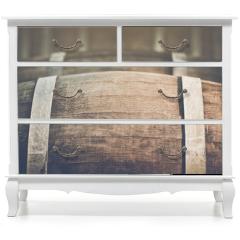 Naklejka na meble - Wine Barrel with Vintage Instagram Film Style Filter