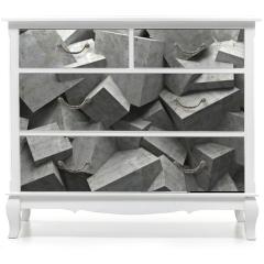 Naklejka na meble - cubes wall