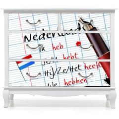 Naklejka na meble - Cours de néerlandais (conjugaison)