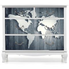 Naklejka na meble - World map