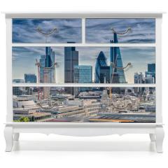 Naklejka na meble - London City. Modern skyline of business district