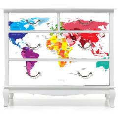 Naklejka na meble - Political Map of the World