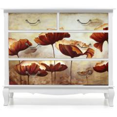 Naklejka na meble - Painting poppies canvas