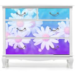 Naklejka na meble - Flower pastel style.