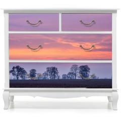 Naklejka na meble - After sunset colorful sky over fields