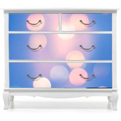 Naklejka na meble - Blurred Blue Pastel Color Lights. Bright festive background