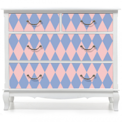 Naklejka na meble - Rose quartz and serenity rhombus backdrop. Vector illustration. Seamless pattern.