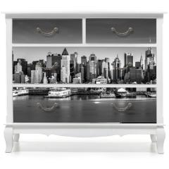 Naklejka na meble - Black and white New York City panorama