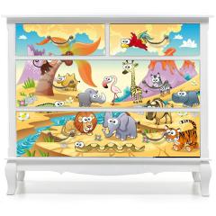 Naklejka na meble - Zwierzęta sawanny