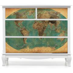 Naklejka na meble - Zabytkowa mapa