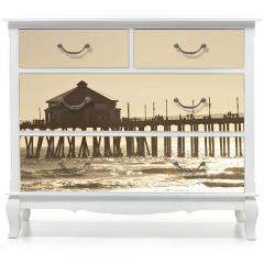 Naklejka na meble - Huntigton molo na plaży