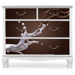Naklejka na meble - Mleko i czekolada