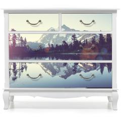 Naklejka na meble - Obraz z jeziorem