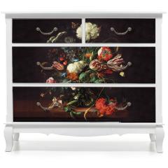 Naklejka na meble - Vase of flowers - Jan Davidsz de Hee