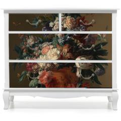 Naklejka na meble - Vase of flowers - Jan van Huysum