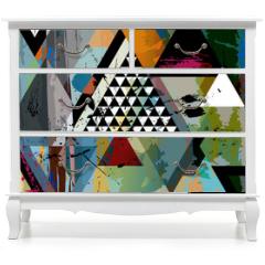 Naklejka na meble - abstract art illustration, triangles,vector format