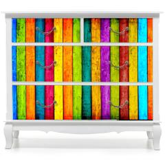 Naklejka na meble - Colorful Wood Planks Background