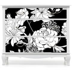 Naklejka na meble - Decorative seamless wallpaper
