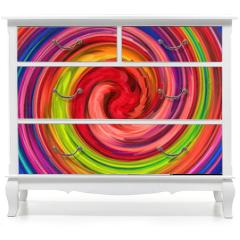Naklejka na meble - Multicolored Swirl