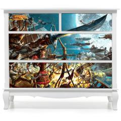 Naklejka na meble - Steampunk forever, background for your desktop