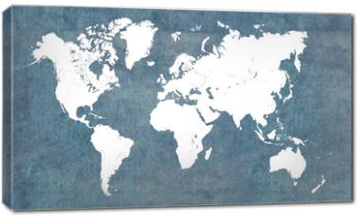 Obraz na płótnie canvas - World map, vintage