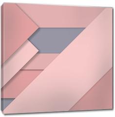 Obraz na płótnie canvas - Rose Quartz trend Material design