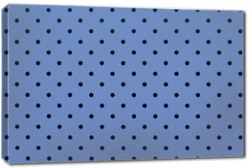 Obraz na płótnie canvas - wallpaper pattern black dots in pantone blue serenity color background