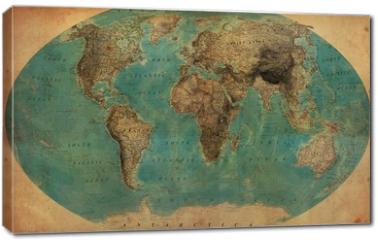 Obraz na płótnie canvas - vintage map
