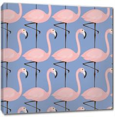 Obraz na płótnie canvas - tender flamingo pattern