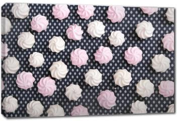 Obraz na płótnie canvas - small spiral meringues