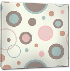 Obraz na płótnie canvas - Seamless vector decorative background with circles, buttons and polka dots. Print. Cloth design, wallpaper.