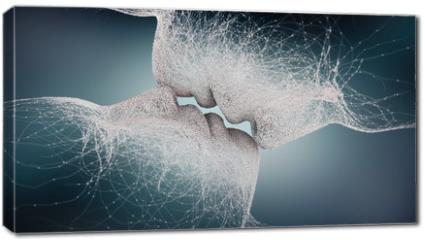 Obraz na płótnie canvas - abstract kiss