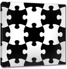 Obraz na płótnie canvas - Jigsaw puzzle seamless pattern