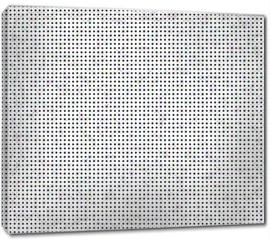 Obraz na płótnie canvas - Seamless Polka dot background. Squared dots on white background for graphic design background texture pattern.
