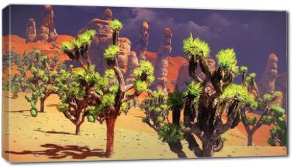 Obraz na płótnie canvas - Joshua trees on desert